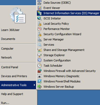 IIS Manager Location
