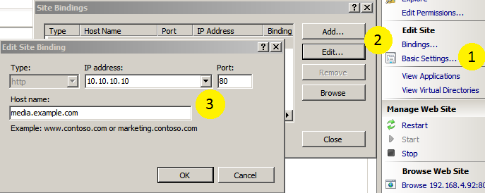Location of Sites, Directory Browsing, and Mime Types